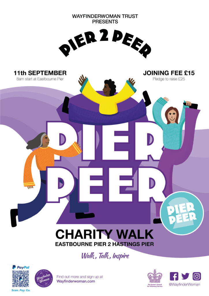Poster of Pier to peer charity walk
